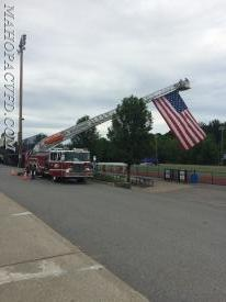 06/20/18 5:00pm MVFD flying the colors at Mahopac HS Graduation in support of our graduating members and all the class of 2018.